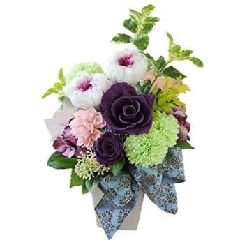 花由 プリザーブドフラワープリエール パープル お供え用 仏花 マケプレお急ぎ便