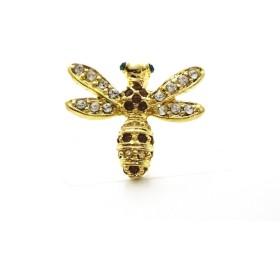 [サクセサリー] successory 日本製 スワロフスキー ピンバッジ ブローチ ハチ 蜂 はち ゴールド