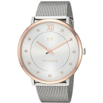Tommy Hilfiger Women's Sophisticated Sport Quartz Watch with Stainless-Steel Strap, Silver, 20 (Model: 1781811 [並行輸入品]