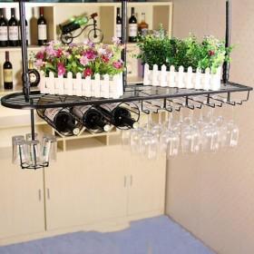 ワインラック ワイングラスラック、シェルフワイングラスホルダー、ワイングラスラック、ワイングラスラック、シャンパングラスラック、ガラス器具ラック カップホルダー (Color : A, Size : L100W25CM)
