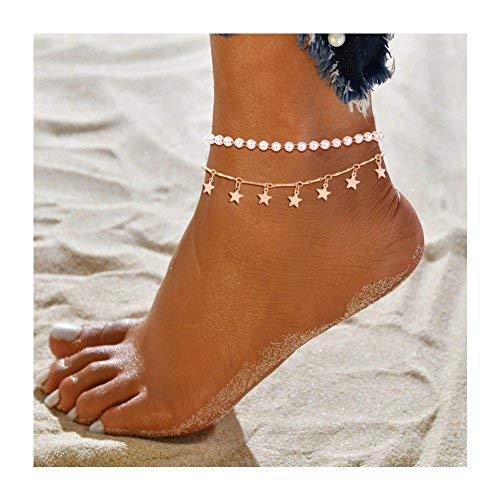 Babasee Bohemian Vintage Barefoot Anklet Bracelet Feet Chain Flower Beach Pendant Anklets