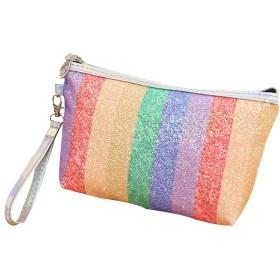 LSHJP ファッション虹つや消し防水化粧品バッグ旅行メイクアップバッグ (Color : 4)