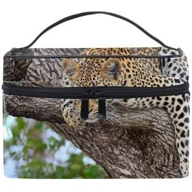 チーター横になっている大きな猫化粧道具 小物入れ おしゃれ 高級感 大容量 收納抜群 かわいい プレゼント
