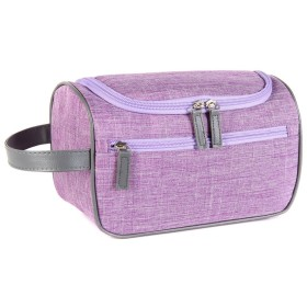 ALBAMD- 化粧ポーチ 大容量 メイクポーチ 化粧品収納バッグ メイクボックス 軽量 コスメケース コスメバッグ 持ち運び便利 収納 小物入れ (紫)