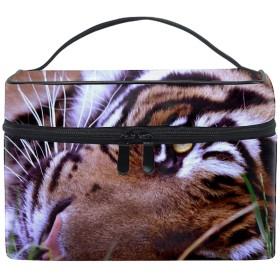 便携式虎 メイクボックス 收納抜群 大容量 可愛い 化粧バッグ 旅行