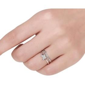 Doitsa リング 指輪 フリー サイズ 調節可能 蝶結び 誕生日 記念日 結婚式 婚約 手飾り プレゼント ファッション シンプル キラキラ レディース