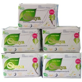 SHUYA Patented Anion Pantyliners Wingless for Women, Mint Herbal Scented-150Pieces(Pack of 5)