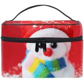 化粧ポーチ レディース 人気 コスメポーチ ポーチ 大容量 かわいいChristmas Snowmen Scarf Doll