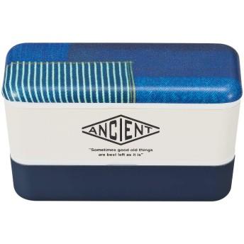 弁当箱 2段 おしゃれ 食洗機対応 食洗器対応 電子レンジ対応 ANCIENT 長角ネストランチ パッチワーク 78617