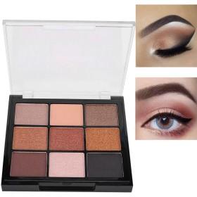 適用 容易 9つ 色 きらめきのマットのアイシャドウパレット、アイシャドウの化粧品の粉(03#)