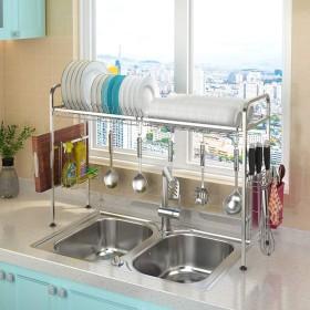 食器乾燥ラック シンク上ディスプレイスタンド 水切り ステンレススチール キッチン用品 収納棚 キッチン用品 ストレージラックステンレススチール (Size : 686528cm)