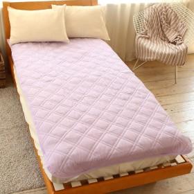 ダブルガーゼ HarvestRoom(ハーベストルーム) 敷きパッド 敷き布団 カバー コットン 綿100% (セミダブル, ラベンダー)