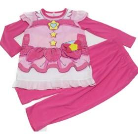 スタートゥインクルプリキュア 光る変身パジャマ 長袖パジャマ バンダイ (ピンク, 120cm)
