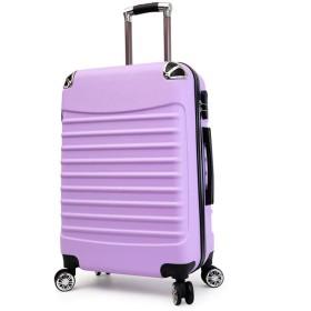 ジッパートロリーケース、軽量大容量360°ユニバーサルホイールボックス、ABS荷物、3桁ロックボックス、出張休暇-Lightpurple-XL