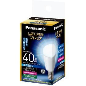 パナソニック LED電球 プレミア 口金直径17mm 電球40W形相当 昼光色相当(4.0W) 小型電球・全方向タイプ 1個入 密閉形器具対応 LDA4DGE17Z40ESW