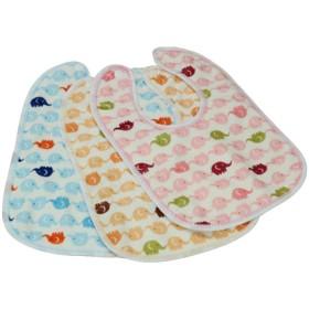 セットの女の子の赤ちゃんの絵画/食べるベルベットビブ色ランダム - A500
