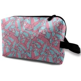 化粧ポーチ ピンクの猫 収納ポーチ 化粧バッグ 多機能ポーチ 大容量 小物入れ 軽量 出張 旅行用品 バスルームポーチ トラベルポーチ 防水仕様 洗面用具 男女兼用