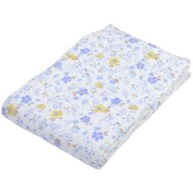 西川(Nishikawa) ベットパッド・敷きパッド ブルー シングル 水洗い キルト 花柄 5CK204S