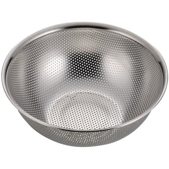 パール金属 アクアシャイン ステンレス製 パンチ ボール型 ザル 24cm H-9132