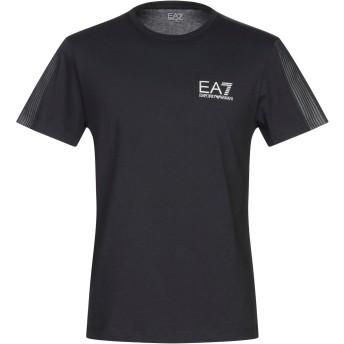 《9/20まで! 限定セール開催中》EA7 メンズ T シャツ ダークブルー M コットン 100%