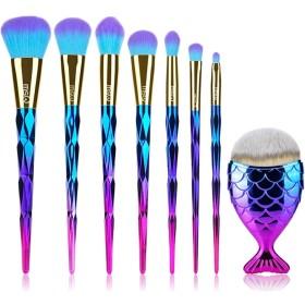 化粧パレットブラシ10個セットのツールファンデーションパウダーブラシキットカラー合成ヘアアイシャドウブラシツール