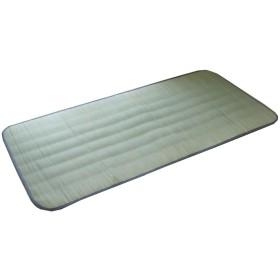イケヒコ い草 い草シーツ 敷きパッド セミシングル 寝具 国産 やわらか 『デニム 素肌草キルト』 約88×205cm (中綿入り)