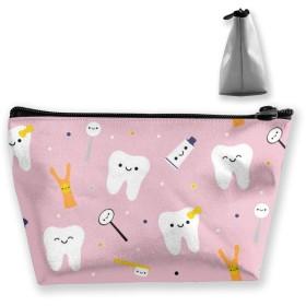 歯の歯 収納ポーチ 化粧ポーチ トラベルポーチ 小物入れ 小財布 防水 大容量 旅行 おしゃれ