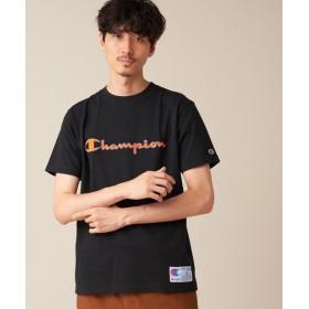 Discoat(ディスコート) メンズ 【WEB限定】Champion/チャンピオン スクリプトロゴ刺繍半袖Tシャツ ブラック