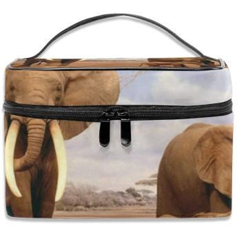 象 化粧ポーチ メイクポーチ コスメバッグ 収納 雑貨大容量 小物入れ 旅行用