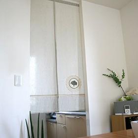 SunnyDayFabric のれん コットンコットン 綿 パッチワーク 約幅85cmx丈150cm