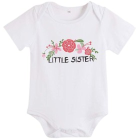 Urmagicベビー服 ロンパース Tシャツ 姉妹服 夏 子供服 ホワイト 花柄 かわいい 綿 ファッション 人気 0-18ヶ月 2-7歳