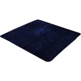 イケヒコ こたつ敷き布団 正方形 キルトラグ ラグ カーペット 無地 フランネル 『17フランIT 抗菌防臭』 ネイビー 約145×145cm(ホットカーペット対応) ♯9808488