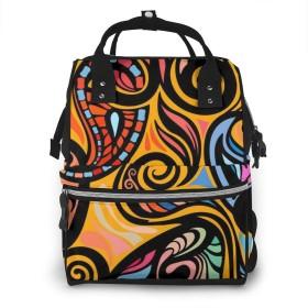 マザーズバッグ マザーズリュック Paisley ペイズリー柄 和風 防水 ハンドバッグ おしゃれ 多機能 多用途 大容量 多ポケット ベビー用品収納 お出産祝い 旅行 ママバッグ