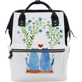ママバッグ マザーズバッグ リュックサック ハンドバッグ バレンタインデー 青猫 漫画 用品収納 旅行用 大容量 多機能 出産祝い