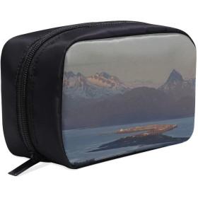 KWESG メイクポーチ アラスカ州 ボックス コスメ収納 化粧品収納ケース 大容量 収納 化粧品入れ 化粧バッグ 旅行用 メイクブラシバッグ 化粧箱 持ち運び便利 プロ用