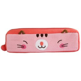 [ピンキー子猫] 刺繍入りアップリケ ペンシルポーチバッグ/化粧品バッグ/キャリングケース( 18.544.574.83cm)