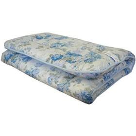 エブリ寝具ファクトリー 日本製 敷布団 シングルロング (ブルー系) おまかせ柄 フランス産 羊毛100% ウール100% 固綿入り 敷き布団