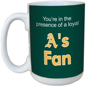 Tree-Free Greetings lm44096 A's Baseball Fan Ceramic Mug with Full-Sized Handle, 440ml