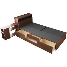 ワンダ チェストベッド シングル 木製 ベッドフレームのみ/ブラウン(BR)