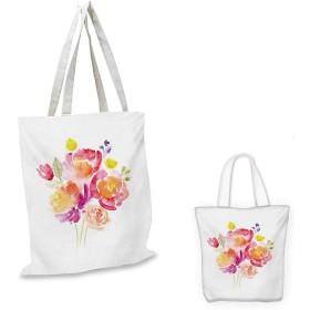 PastelOrnate 手描き フローラル 渦巻き 咲き乱れる 春 庭 テーマ アーティスティック マルチカラー 13x13-10