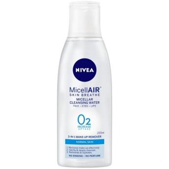 NIVEA Micellar Cleansing Water, MicellAIR Skin Breathe Make Up Remover, 200ml