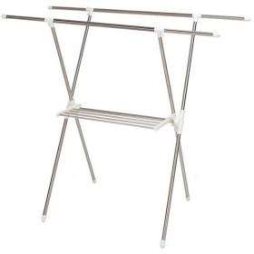 SeatheStars 物干し X型 伸縮 折りたたみ可能 約4~5人用 簡単組み立て 布団干し 室内物干し ステンレス タオルハンガー付き 幅88~155cm