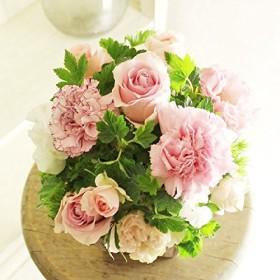 [AF39]デザイナーズフラワーアレンジメントSSサイズ Girlishness(ピンク系)< 誕生日祝い 結婚祝い 結婚記念日 出産祝いに >