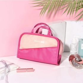 旅行用の洗面カバンセットセットセット多機能携帯付きです。, ピンクにローズを添えます