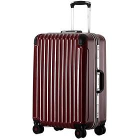 [BB-Monsters]ビービーモンスターズ スーツケース 大型 中型 小型 フレームタイプ (小型、S, クラシックワインレッド)