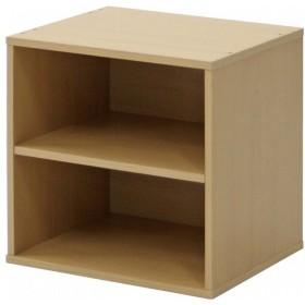 棚付1個(ナチュラル)/キューブボックス cubebox 収納 カラーボックス シェルフ A4 本棚