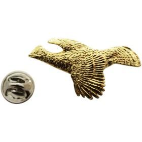 エリマキライチョウFlyingピン~ 24Kゴールド~ラペルピン~サラのTreats & Treasures