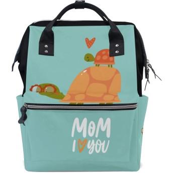 ママバッグ マザーズバッグ リュックサック ハンドバッグ 亀柄 漫画 用品収納 旅行用 大容量 多機能 出産祝い