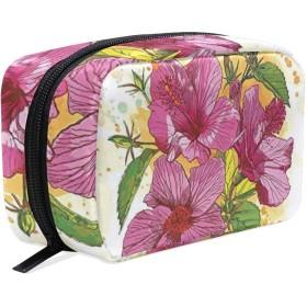 CW-Story フローラル 化粧ポーチ コンパクト メイクポーチ 化粧品 化粧道具 収納 バッグ