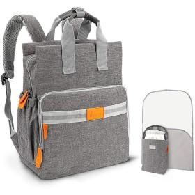 TUMAMA マザーズバック 男女兼用 おむつ バッグ バックパック、多機能 防水 大容量 旅行 おむつバッグ 交換パッド&保温ポケット付